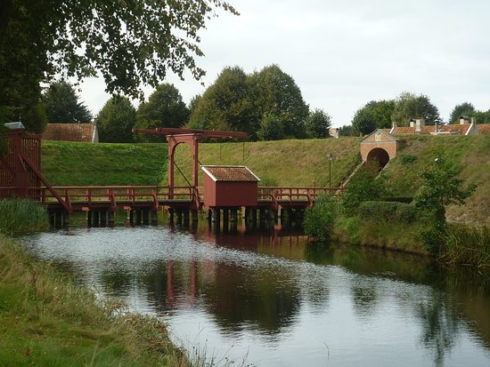 Bourtange, The Netherlands: Zugbrücke