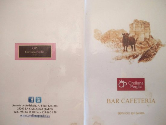 La Carolina, Spagna: menu