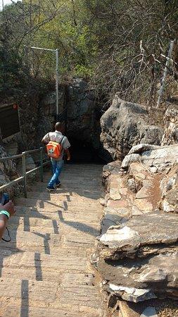 entry of cave 南アフリカの人類化石遺跡群 sterkfontein caveの写真