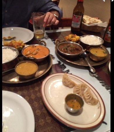 Tibet Nepal House: We shared diverse plates.