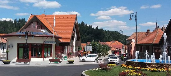 Tourist Info Point right in the center of Zarnesti