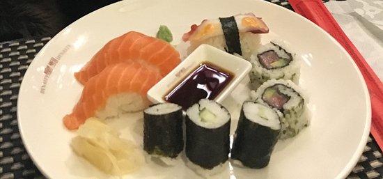 Weinheim, Deutschland: Sushi verschiedene Varianten
