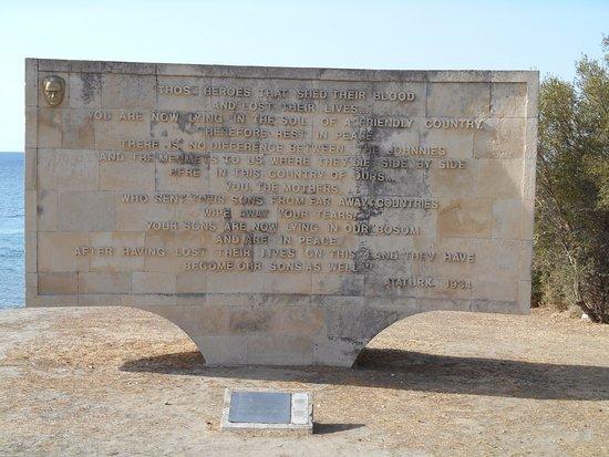 Gallipoli, Turchia: Ataturk's famous words