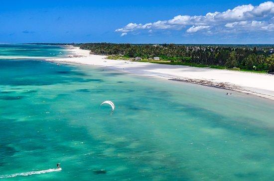 Diani Beach, Kenia: Paradisiac kite spot.