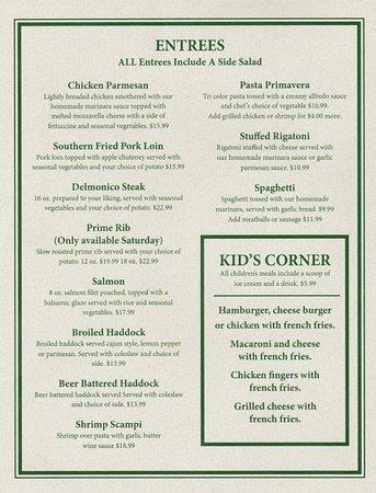 Himrod, Estado de Nueva York: menu
