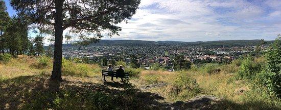 Σούντσβαλ, Σουηδία: Utsikt över Sundsvall mot söder