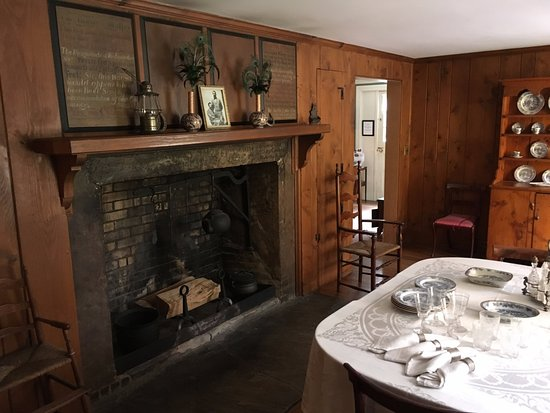 "Pittsfield, MA: Living Room and his famous fireplace made famous by Melville's ""I and My Chimney."""