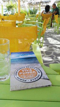 Piso Livadi, กรีซ: Le restaurant de la plage. .
