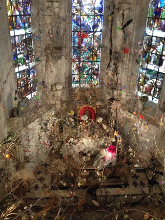 Centre-Val de Loire, France : Art installation in the chapel