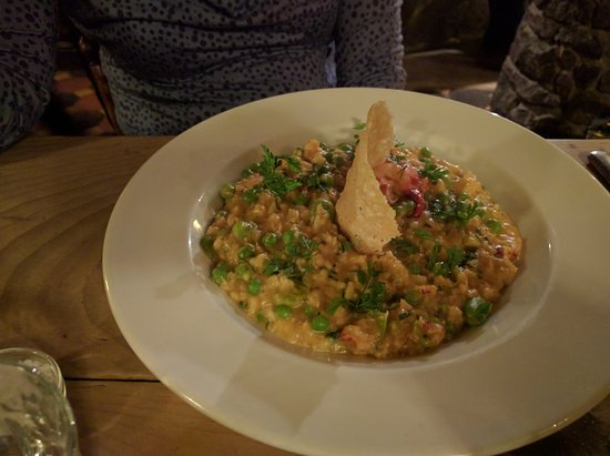 Alstonefield, UK: Seafood lobster and prawn risotto