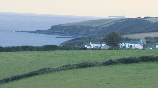 Trewithian, UK: View from hotel grounds toward Portscatho