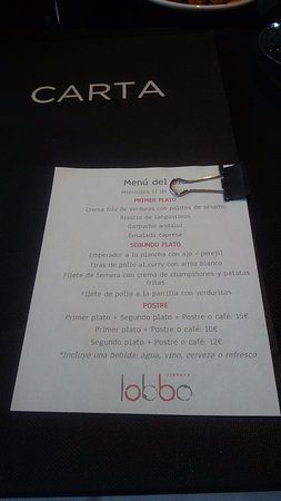 Menú Diario Picture Of Lobbo Terraza Madrid Tripadvisor