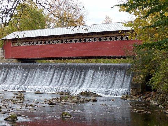 Bennington, VT: Taken from the Falls Side along the river bank