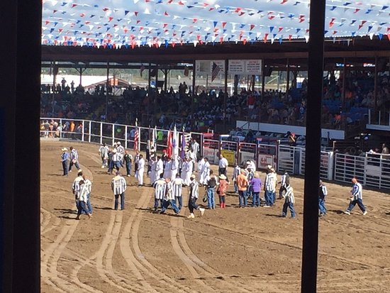 "Angola, LA: Color guard and singing of ""America the Beautiful"" before the rodeo"