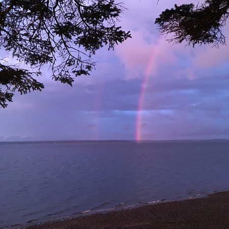 Emery's Cottages on the Shore: double rainbow after rain