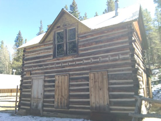 Nathrop, Колорадо: Boarded Up House In St. Elmo, Colorado