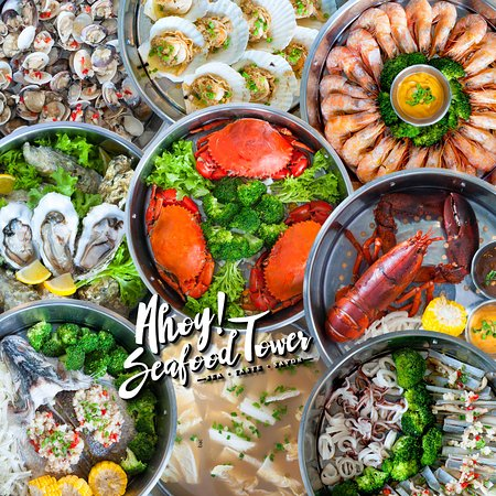 Central Melaka District, Malesia: Ahoy Seafood Tower