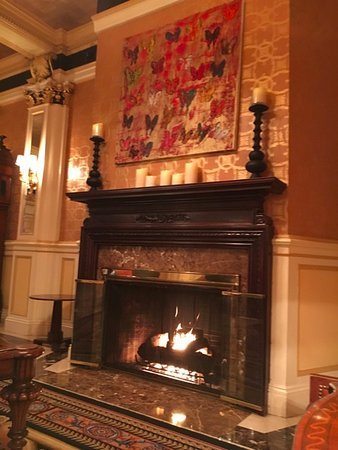 Fireplace in lobby picture of lenox hotel boston tripadvisor lenox hotel fireplace in lobby teraionfo