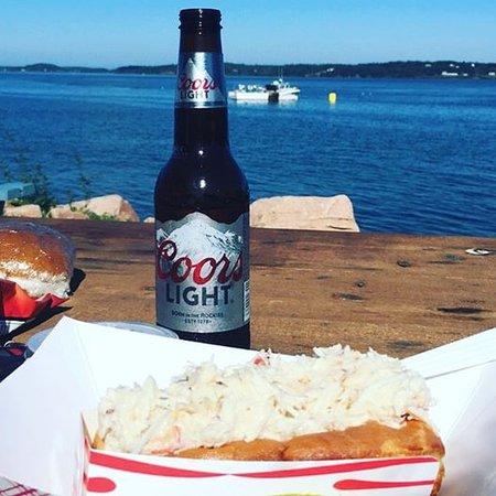 Eastport, ME: Best crab roll ever!