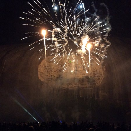 Lasershow Spectacular at Stone Mountain Park: Fireworks