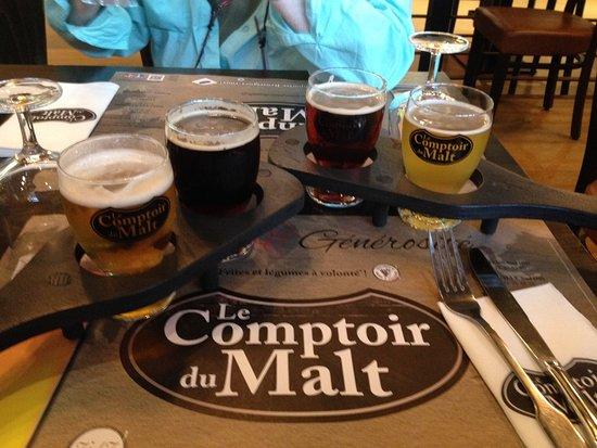 Noyon, ฝรั่งเศส: Beer flights