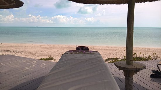 Leeward, Провиденсиалес: Beach  Massage with infinity view and Ocean sound .