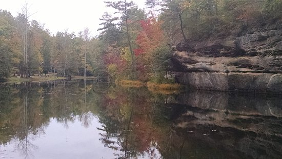 Jamestown, TN: Lake near picnic area, Pickett State Park, OCtober 2016