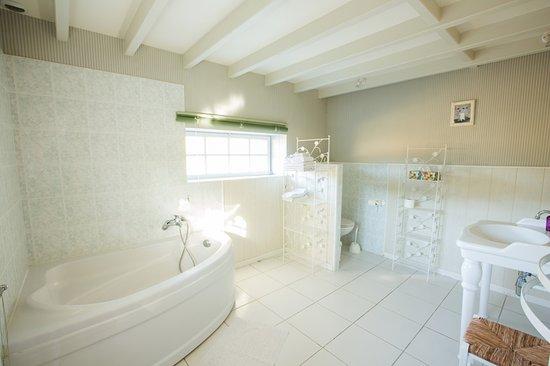 Semblancay, Francia: Chambre familiale Balzac : 1 lit double et 2 lits simples, au rez de jardin
