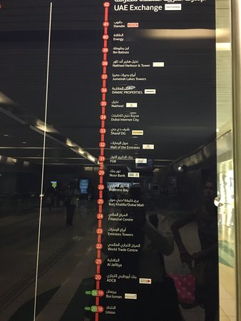 Basic route maps in the station are easy to follow Picture of