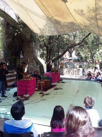 Museo Dolores Olmedo: Nos tocó, el día de nuestra visita, un concierto de arte prehispánico muy agradable.