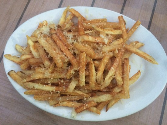 Charlestown, RI: A small plate of Truffle Fries.