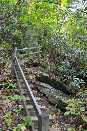 Burnsville, Carolina del Norte: Some of the stairs