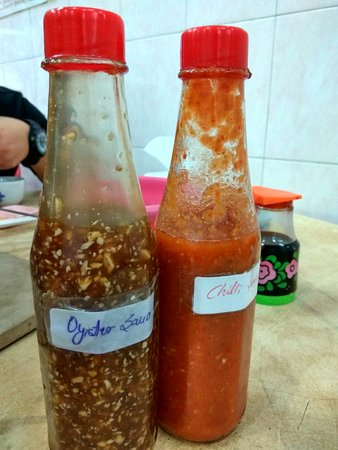 Cameron Organic Produce: The oyster sauce and chilli sauce~