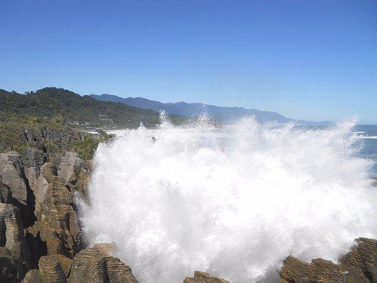 Punakaiki, Nuova Zelanda: Blow holes