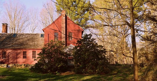 Ashford, CT: Henrietta House in the setting sun