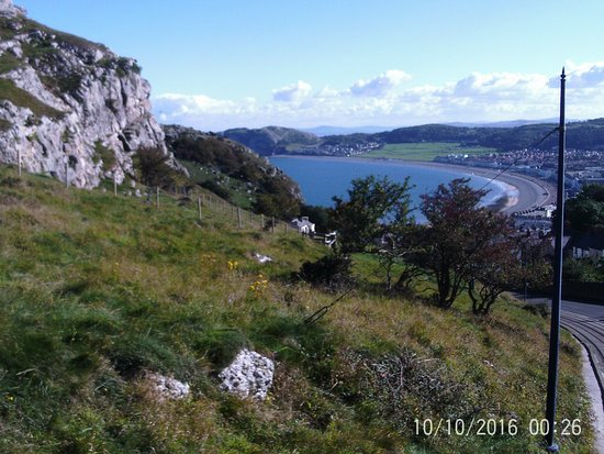 Great Orme: View of Landudno Bay on descent.