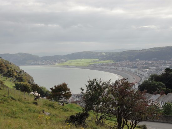 Great Orme: Llandudno Bay from the tram
