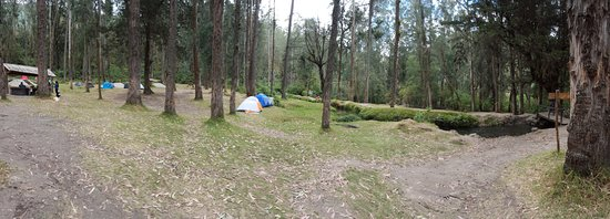 Peguche Waterfall: zona de camping