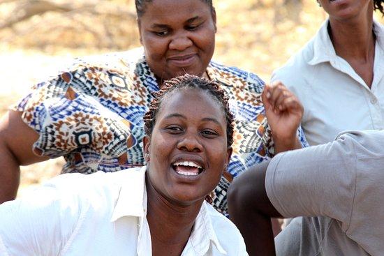 Linyanti Reserve, Botswana: Linyanti greeting committee