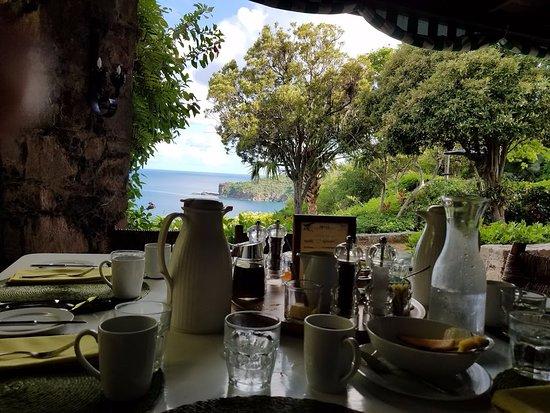 Guana Island: Breakfast
