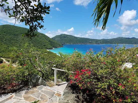 Guana Island: The main bay
