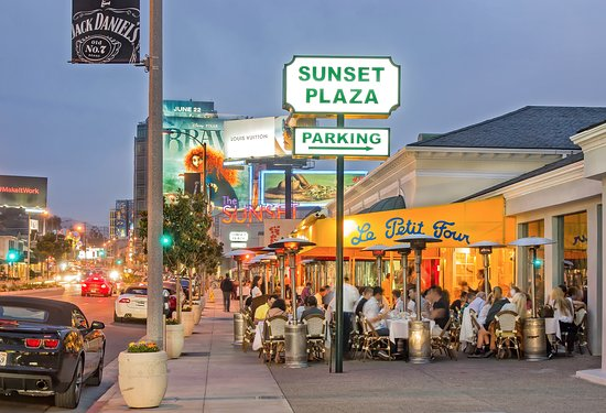 West Hollywood, CA: Sunset Plaza - a glamorous Hollywood experience.