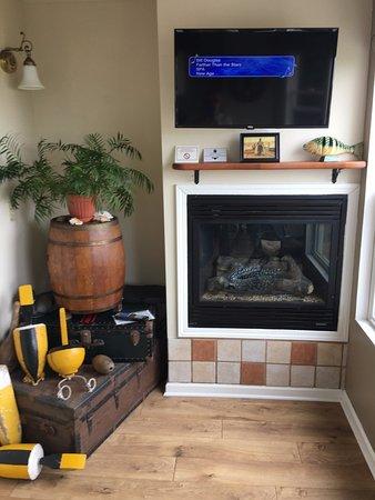 Moss Landing, Californien: working fireplace