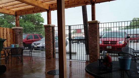 Bennington, NE: Beer garden on a rainy day