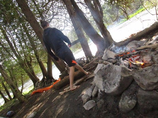 campsite by the river (Glen Morris to Paris run)