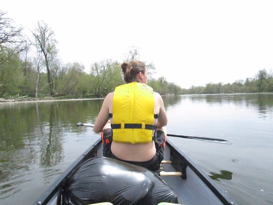on the water- ready for a long paddle ahead of us! (Cambridge to Paris)