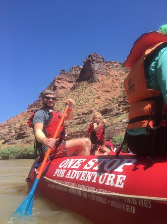 Moab Adventure Center - Day Tours: There was time and space to take a swim in the cool river.