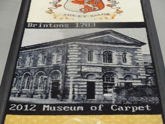 Kidderminster, UK: Carpet museum image in carpet