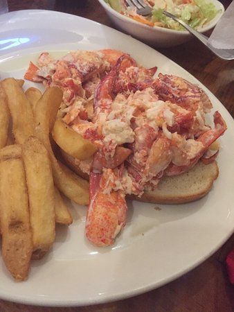 Raymond, NH: 1/2 lb of lobster on this roll with fries
