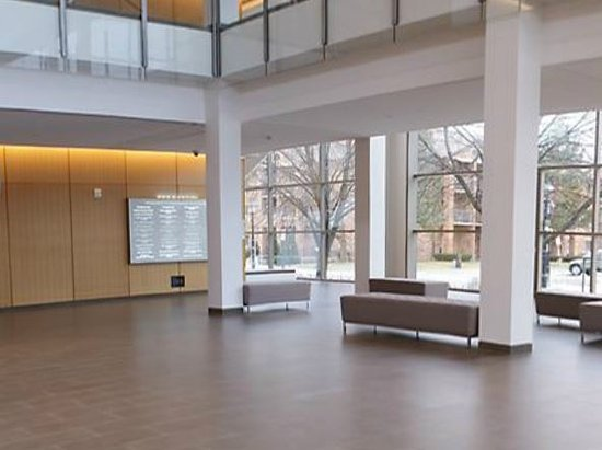 The Burlington Performing Arts Centre: the lobby